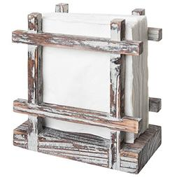Rustic Barnwood Upright Napkin Holder, Table Top Paper Towel