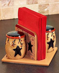 The Lakeside Collection Rustic Star & Berry S&P Shakers & Na