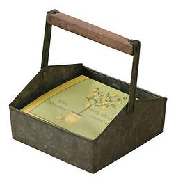 Rustic Tin Napkin Holder Caddy Beverage Decor Holder Metal D