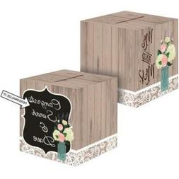 Rustic Wedding Card Box Party Supplies, New