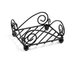 Scroll Flat Napkin Holder, Black for Kitchen Storage & Organ