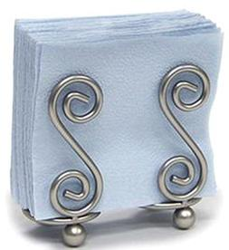 Spectrum Scroll S Design Napkin Holder - Color: Satin Nickel