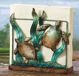 Sea Turtle Napkin Holder Ocean Themed Decor