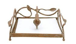 Shabby Chic Square Metal Napkin Holder with Bird Weight by Z