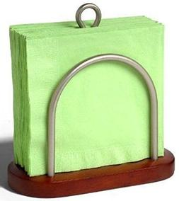 Spectrum Sierra Napkin Holder- Walnut Wood - Color Satin Nic