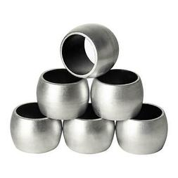 Silver Napkin Rings Round Serviette Holder Wedding Christmas