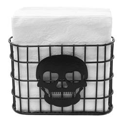 Skull Design Tabletop Napkin Holder, Metal Wire Paper Towel