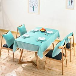 1-Piece Solid Color Tablecloth For Dining Table Cloth Rectan