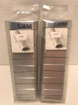 IKEA SPALT Silver Tone Napkin Rings and Place Card Holder se