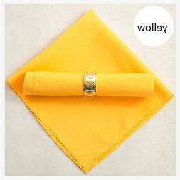 19 Inch Square Premium Polyester Solid Color Cloth Napkins S