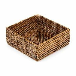 CALAISIO, SQUARE WOVEN COCKTAIL NAPKIN HOLDER, NEW with TAGS