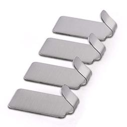 CYCTECH 10PCS Stainless Steel Hook Self Adhesive Hook Metal