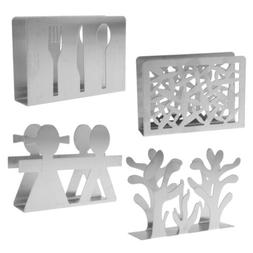 Stainless Steel Paper Napkin Holder Dining Table Decor Rack