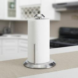 Paper Towel Holder- Stainless Steel With Weighted Base, Vert