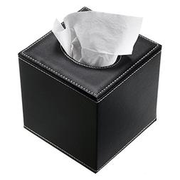 Sumnacon Stylish PU Leather Tissue Box Holder, Square Napkin