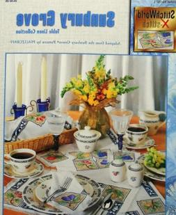 Sunbury Grove Table Linen Collection - Counted Cross Stitch