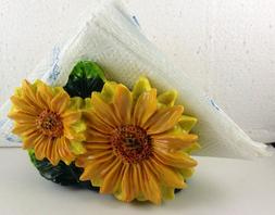 Sunflowers napkin  holder  decor bar home set kitchen Poly R