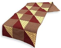 Park Designs Table Runner New Hope Quilted Gingham Earthtone