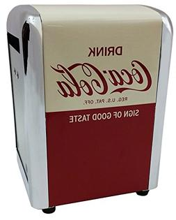 Tablecraft Have a Coke Metal Napkin Dispenser Half Size