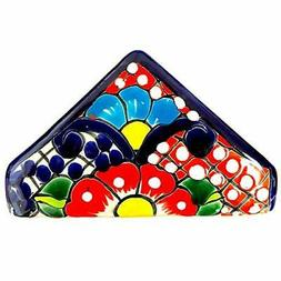 Casa Fiesta Designs Talavera Pottery Napkin Holder - Authent