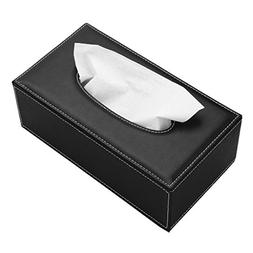 Sumnacon Stylish PU Leather Tissue Box Holder, Rectangular N