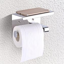 Delaman Toilet Paper Holder Wall Mounted Stainless Steel Bat