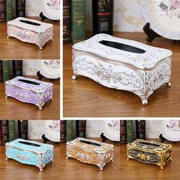 Towel Tissue Storage Box Container Napkin Holder Case Deskto