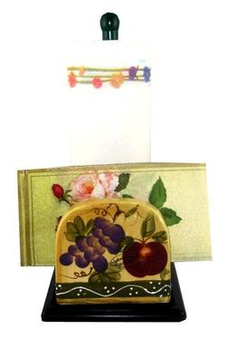 Tuscan Mixed Fruit Paper Towel and Napkin Holder