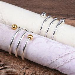 useful metal spring hollow napkin serviette buckle
