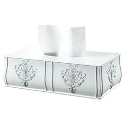 Creative Scents Vintage White Tissue Box Cover Rectangular