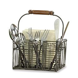 Tasteful Home Decor Vintage Wire Flatware and Napkin Caddy,G