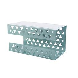 OUNONA Wall-Mounted Paper Holder Wrought Iron Tissue Box Pap