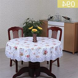 LPPYrrydk Waterproof Oilproof Plastic Table Covers Floral Pr