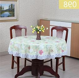 Waterproof Oilproof Plastic Table Covers Floral Printed Lace