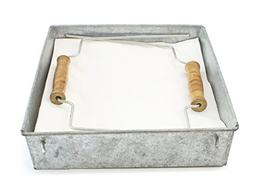 "Well Pack Box Large Rustic Farmhouse Style Galvanized 8"" x"