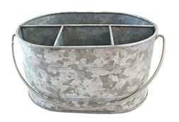 "Well Pack Box Large Galvanized Bucket 12"" x 10"" x 6"" Steel D"