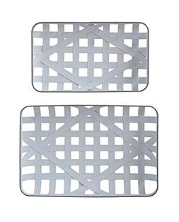 Creative Co-Op White & Grey Metal Tobacco Baskets