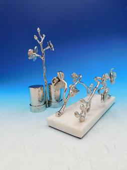 White Orchid by Michael Aram Nickelplate Tabletop Set S&P an