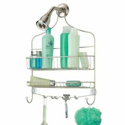 mDesign Wide Bathroom Tub and Shower Caddy, Hanging Storage