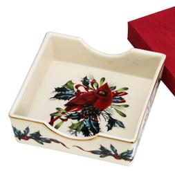 Lenox Winter Greetings Napkin Holder with Napkins