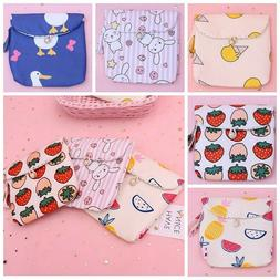 Women Napkin Tampons Holder Towel Pads Canvas Bags Organizer