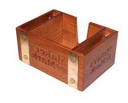 wooden cocktail napkin holder caddy