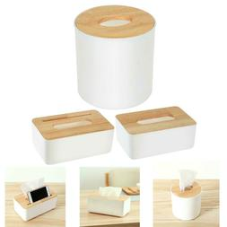 Wooden Tissue Box Home Tissue Box Container Towel Napkin Tis