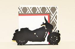 Wrought Iron Motorcycle Napkin Holder - Hand Made By Amish