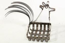 Wrought Iron Rooster Basket Decorative Home Decor Napkin Hol